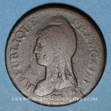 Münzen Consulat (1799-1804). 1 décime an 9G. Genève