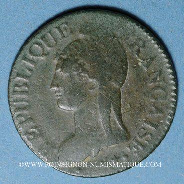 Münzen Consulat (1799-1804). 5 centimes an 9BB. Strasbourg