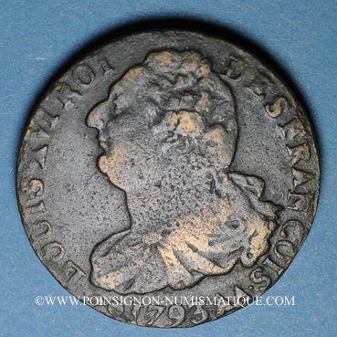 Münzen Convention (1792-1795). 2 sols 1793AA. Metz. Type FRANCOIS