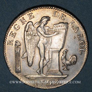 Münzen Convention (1792-1795). Ecu de 6 livres 1793A. 2e semestre