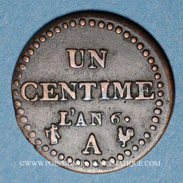 Französische Moderne Münzen Directoire 1795 1799 1 Centime An 6