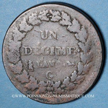 Münzen Directoire & Consulat (1795-1804), 1 décime an (8)G Genève