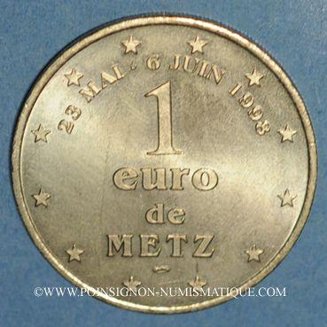 Münzen Euro des Villes. Metz (57). 1 euro 1998