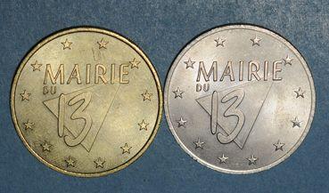 Münzen Euro des Villes. Paris 13ème (75). 1 et 2 euro 1998