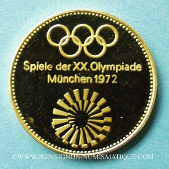 Münzen Gold Medaillen Allemagne Jo De Munich 1972 Médaille Or