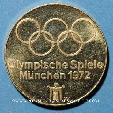 Münzen Gold Medaillen Allemagne Jeux Olympiques De Munich 1972