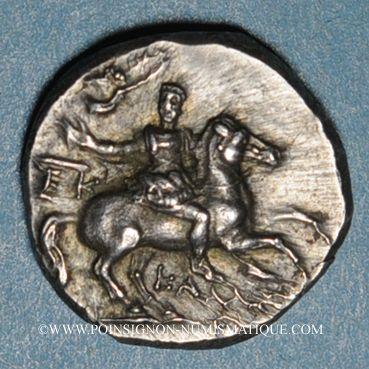 Münzen Calabre. Tarente.  Alliance avec les Romains, vers 235-228 av. J-C. Didrachme