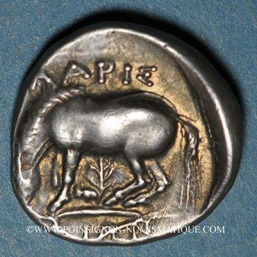 Münzen Thessalie. Larissa. Vers 395-344 av. J-C. Drachme