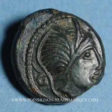 Münzen Carnutes. Région de Chartres - Pixtilos. Bronze au griffon, classe VI, vers 40-30 av. J-C