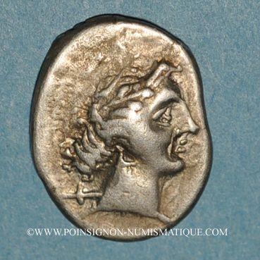 Münzen Marseille (225-200 av. J-C). Drachme au caducée