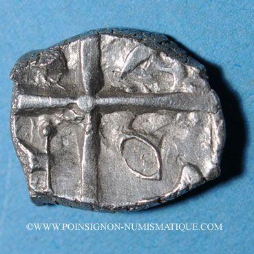 Münzen Volques Tectosages, drachme à la tête cubiste