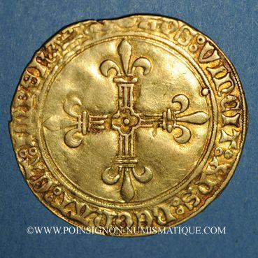 Münzen Louis XI le Prudent (1461-1483). Ecu d'or au soleil (2 novembre 1475). Tours. Var. FRANCORVM RVX