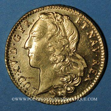 Münzen Louis XV (1715-1774). Double louis au bandeau 1744 Z. Grenoble. Variante 4/3 !