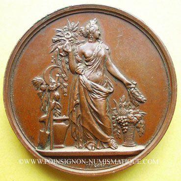 Münzen Medaillen Beaune Côte Dor Société Dhorticulture