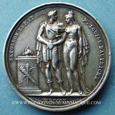 Münzen Medaillen Mariage à Paris De Napoléon I Avec Marie Louise D