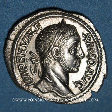 Münzen Alexandre Sévère (222-235). Denier. Rome, 229. R/: Mars marchant à gauche