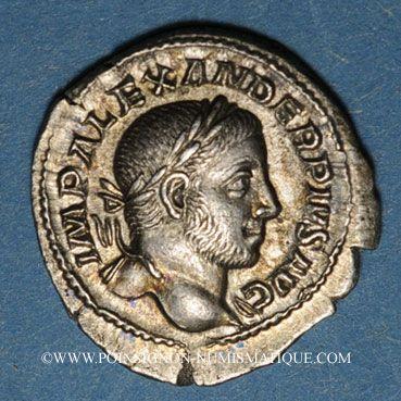 Münzen Alexandre Sévère (222-235). Denier. Rome, 232. R/: la Prévoyance debout à gauche