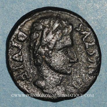 Münzen Auguste (27 av. - 14 ap. J-C). Bronze frappé par Q. Papirius Car.& Q. Terentius Montanus. Illici