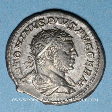 Münzen Caracalla (198-217). Antoninien. Rome, 216. R/: Sérapis debout à gauche