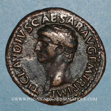 Münzen Claude (41-54). As. Rome, 41-42. R/: Minerve