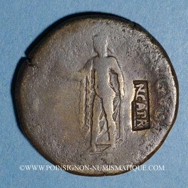 Münzen Claude (41-54). Sesterce. Rome, 41-42, contremarqué NCAPR sous Néron