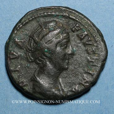 Münzen Faustine mère, épouse d'Antonin le Pieux († 141). Dupondius. Rome, après 147. R/: Junon