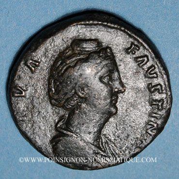 Münzen Faustine mère, épouse d'Antonin le Pieux († 141). Sesterce. Rome, après 141. R/: Vesta voilée debout