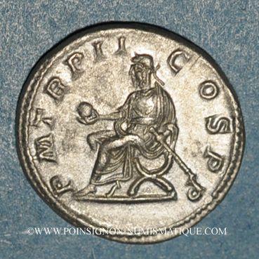 Münzen Macrin (217-218). Denier. Rome, 218. R/: Macrin