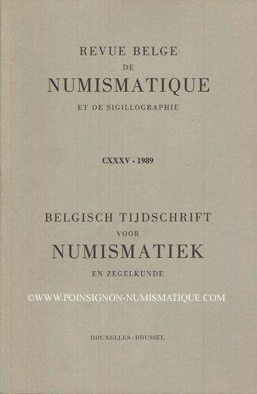 Second hand books Revue Belge de Numismatique. 1989