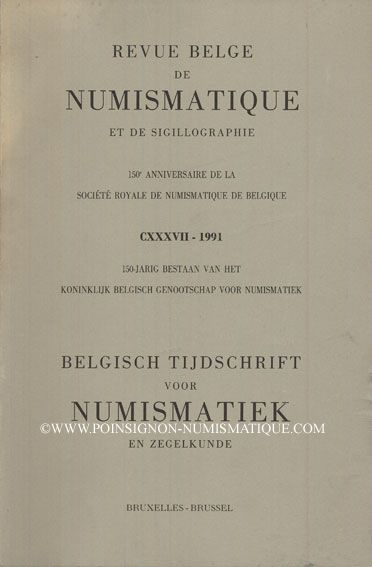 Second hand books Revue Belge de Numismatique. 1991
