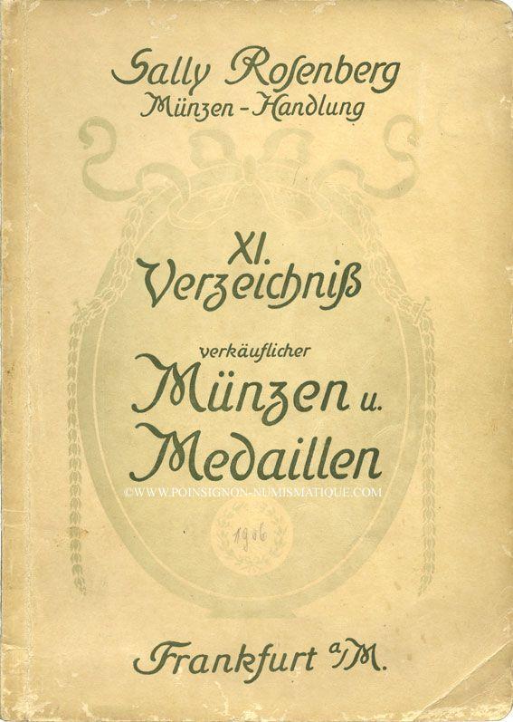 Second hand books Rosenberg Sally. XI. Verzeichnis verkäuflicher, Münzen und Medaillen, 1906