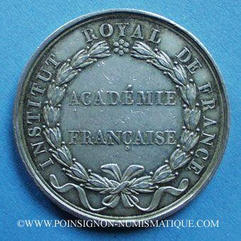 Stolen objects Académie Française, Louis Philippe, jeton argent. Poinçon : lampe antique
