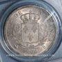 Monnaies 1ère restauration (1814-1815). 5 francs buste habillé. 1814B Rouen. (PCGS MS 62)