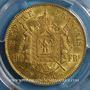 Monnaies 2e empire (1852-1870). 100 francs Napoléon III tête laurée 1869BB Strasbourg.  (PTL 900‰. 32,25 g)