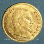 Coins 2e empire (1852-1870). 5 francs tête nue 1860BB. Strasbourg. (PTL 900‰. 1,612 g)