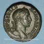 Coins Alexandre Sévère (222-235). As. Rome, 230. R/: Victoire debout à droite