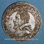 Coins Alsace. Evêché de Strasbourg. Charles de Lorraine (1592-1607). Teston n. d. Saverne. (S fin de lég.)