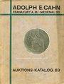 Antiquarischen buchern Cahn A., Francfort, vente aux enchères n° 63, 15.04.1929. Rheinische Sammlung (Slg. Strauss)