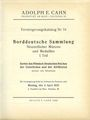 Antiquarischen buchern Cahn A., Francfort. Vente aux enchères n° 74, du 04.04.1932