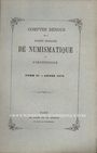 Antiquarischen buchern Comptes rendus de la Société Française de Numismatique. Tome 2. 1870