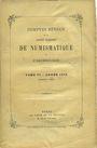 Antiquarischen buchern Comptes rendus de la Société Française de Numismatique. Tome 6. 1875