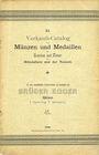 Antiquarischen buchern Egger B., Vienne. Vente n° 11. Verkaufs-Katalog von Münzen und Medaillen der Griechen und Römer ...