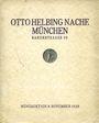 Antiquarischen buchern Helbing O., Munich. Auktions Katalog du 08.11.1928