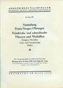 Antiquarischen buchern Hess A., Francfort. Vente aux enchères n° 201, 23.06.1930