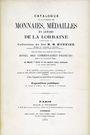 Antiquarischen buchern MONNIER - Catalogue de la collection des monnaies, médailles et jetons de la  Lorraine. Réimp