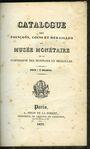 Antiquarischen buchern Musée monétaire. Catalogue des poinçons, coins et médailles. 1833