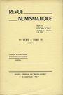 Antiquarischen buchern Revue numismatique. 1967