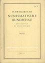 Antiquarischen buchern Revue suisse de numismatique. 1966