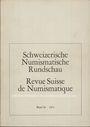 Antiquarischen buchern Revue suisse de numismatique. 1971