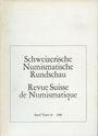 Antiquarischen buchern Revue suisse de numismatique. 1980